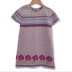 Maggie and Zoe short sleeve rose sweater dress 4T